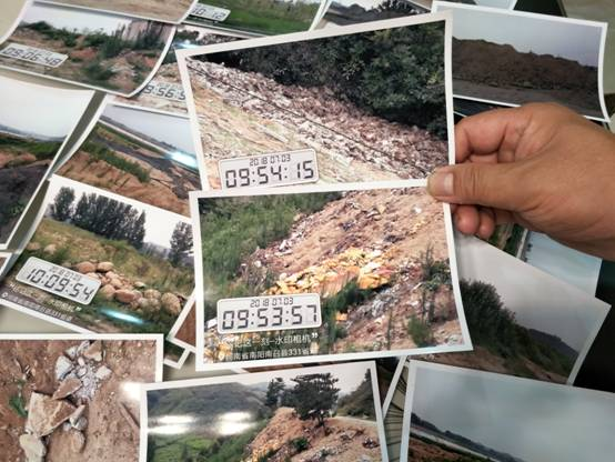 河南省南召县:青山绿水在呼救 建筑垃圾直接倒入黄鸭河 现场触目惊心
